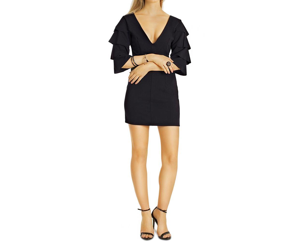 elegante v kleider - damen minikleider in verschiedenen farben - k76p
