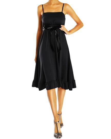 Damen Kleider A-Shape Träger Freizeitkleid Abend Cocktail Kleid  Knielang - Frauen - k26f-Q