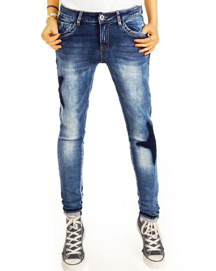 Boyfriend Baggy Jeans Hose Tapered Passform - Star Spangeld Hüftjeans  - Damen - j43k-Q
