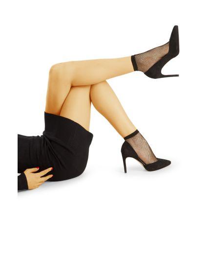 Damen Socken - Doppelpack Fischnetz Strümpfe - S4