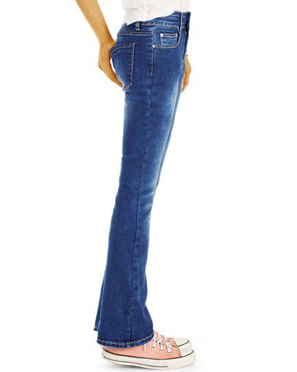 Bootcut Jeans Schlag Hosen - ausgestelltes Bein Jeans aus Stretch Denim - Damen -  j73i-Q