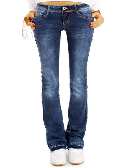 be styled Bootcut Jeans Hüftjeans Hose Schlagjeans - offener Saum - Stretch Fit Passform  - Damen - j40g-2