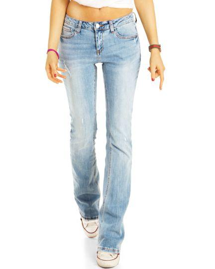 Bootcut Jeans Hüftjeans, Stretch Fit Passform Hosen Medium Waist -  Damen - j25r-3