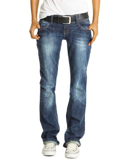be styled Boyfriend Style Jeans - Relaxed Baggy Fit Hüftjeans - Damen - j137p