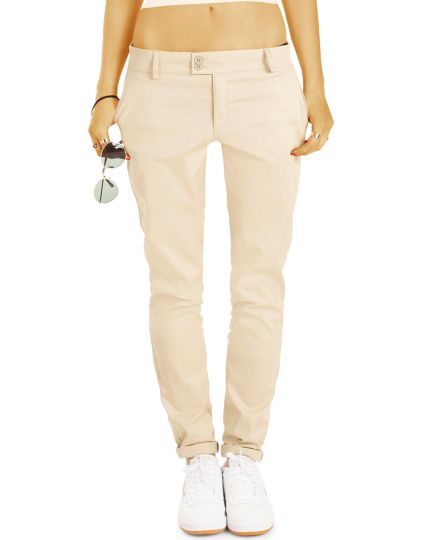 BE STYLED Chinos - Stoffhosen, röhrige lockere Passform, mit Stretch - Damen - Chino_Italia - h16a