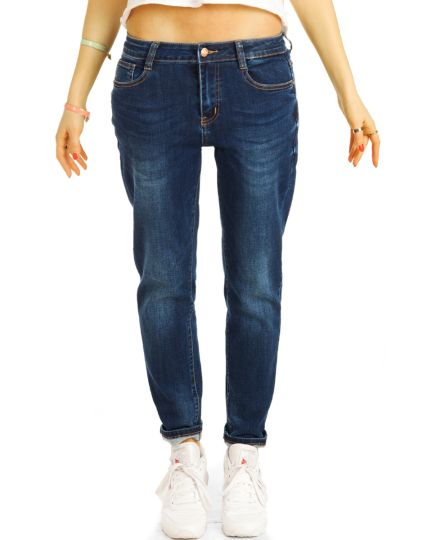 Boyfriendjeans mid waist / low waist baggy Hose im lockeren bequemen stretch Relaxed Fit - Damen - j7m