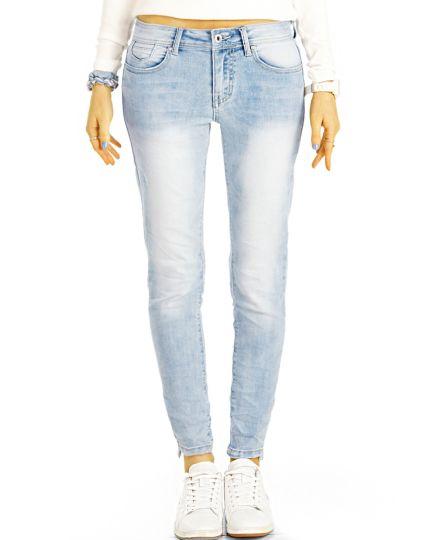 Low Waist Jeanshose Hüftjeans Enge Röhrige Stretch Skinny Jeans - Damen - j1m-1