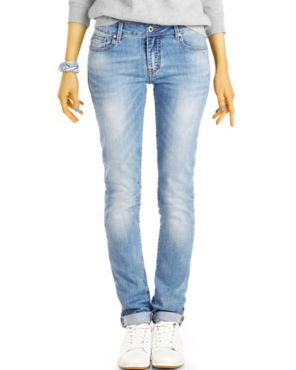 Low / medium  waist Jeanshose Hüftjeans straight cut gertade  Jeans - Damen - j2k-2