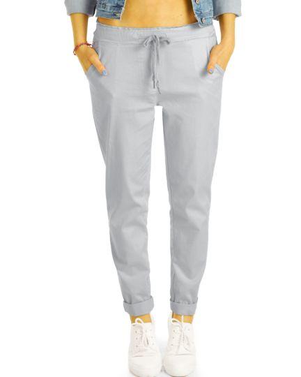 Leichte Sommer Stoffhosen, bequem geschnittene Hosen im Stretch Fit - Damen - h29a