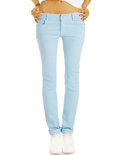 Basic Trend Sommer Hose mit geradem Schnitt - Bequem mit Stretch - in angesagten Farben - Damen - j9k