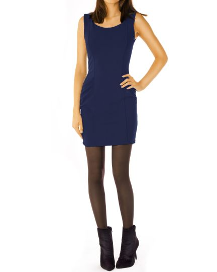 Stretchiges enges Damen Kleid - taillierte klassische Passform - k46p