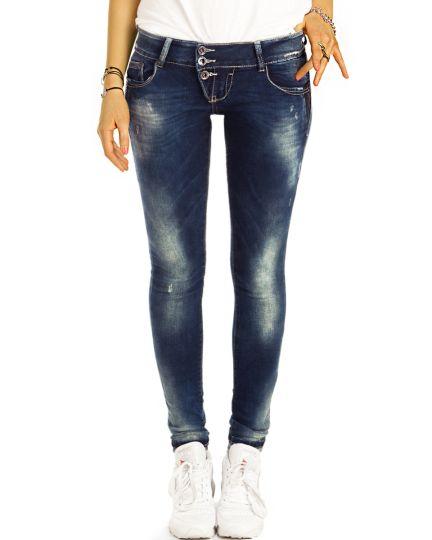 Low Waist Jeanshose Hüftjeans Enge Röhrige Stretch Skinny Jeans - Damen - j18p