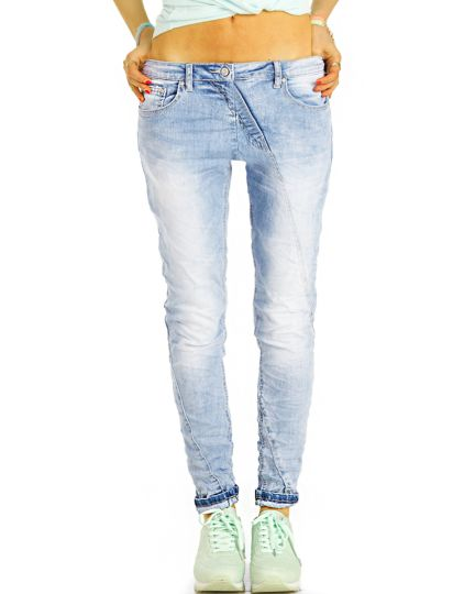 Low Waist Jeans Hüftjeans Röhrenjeans Skinny Hosen straight cut  - Damen -  j3g-3