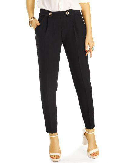 Elegante Stoffhosen,tapered Bundfaltenhosen, Stretch Businesshosen - Damen - j8r-1
