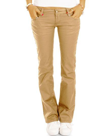 Extreme Jeans Hüfthose im Wax-Look - Stretch Hose - Gerader Schnitt / Bootcut - j1l-br-ca