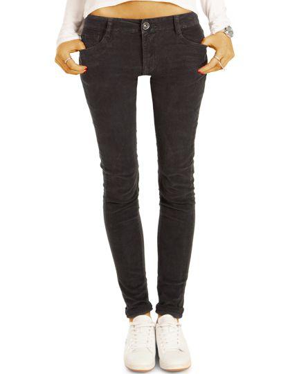 Cord Jeans Hüfthose PushUp Skinny Stretch Röhrenhose, slim fit - Damen- j1i
