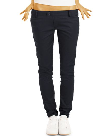 be styled  Chinos, Stoffhosen, röhrige hüftige Passform, mit Stretch  - Damen - h15a
