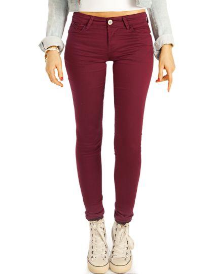 Low Waist Jeans Hüftjeans Röhrenjeans Skinny Hosen - Damen -  j16m-1