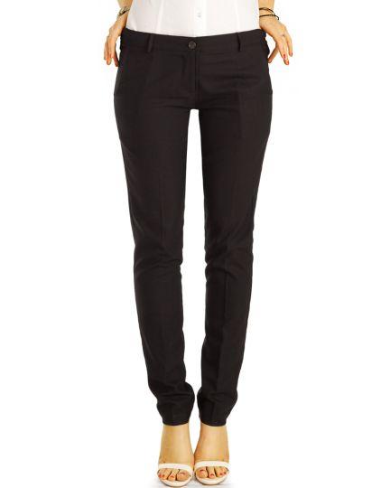 Elegante Stoffhosen, klassische low waist Hosen, Stretch Businesshosen - Damen - j40g3