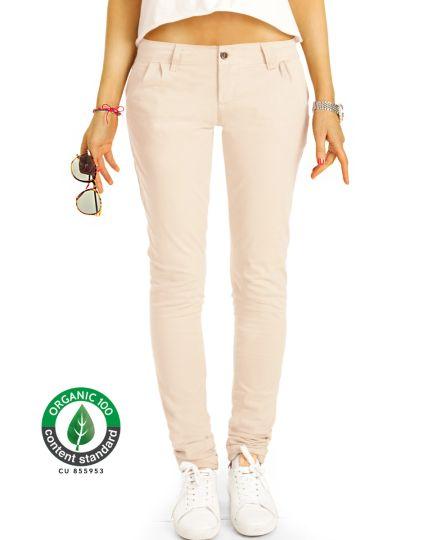 BE STYLED Premium Stoffhosen, Chinos Bundfalten Hosen aus Bio Organic Baumwolle, Damen -BIO-6