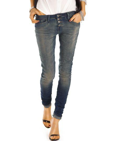be styled Jeans - Schmale Damenjeans im ausgewaschenen Used-Style - Damen -  j41f