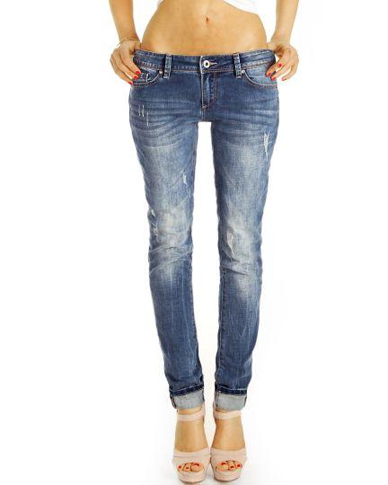 Low Waist Hüftjeans Destroyed Used Vintage Regular, Designer Jeans - Frauen - j24k-2