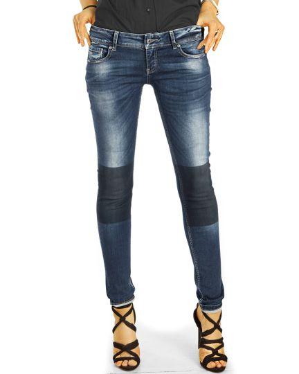 Low Waist Hüftjeans Used Vintage Röhrenjeans, Designer Jeans - Damen- j20e