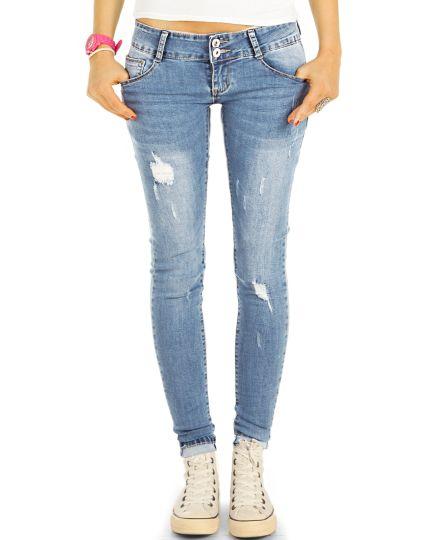 Low Waist Jeans Hüftjeans Röhrenjeans Skinny Hosen - Damen -  j14k-3