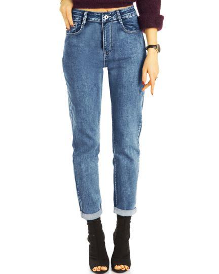 Boyfriend Jeans High Waist Hose stretchig - klassisch, bequem -  Damen - j14g-1