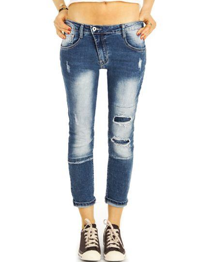 Crop Jeans Sommerhose in Destroyed Vintage Used - Frauen - j42g-2