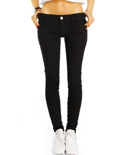 Low Waist Jeans Hose hüftige Röhrenjeans Skinny Strech Hüftjeans - Damen - j2e