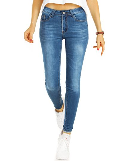Röhrenjeans Medium / Low Waist Skinny Fit Jeans, slim fit Hosen - Damen - j51k