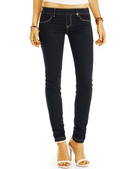 Jeggings Treggings Stretch Jeans Hose - enger Skinny Fit - Damen - j18L-Q