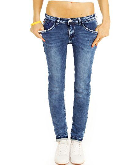 Tapered Vintage Used Jeans Hose im lockeren bequemen Stretch Schnitt - Damen - j14i-2
