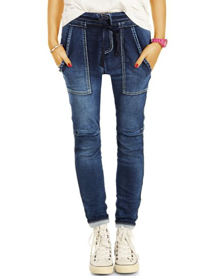 Tapered Jeans Baggy Girlfriend, Boyfriend Fit Hosen, Loose - Damen - j13r
