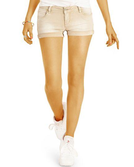 Low Waist Sommer Hotpants Shorts kurze stretch Jeanshose - Hüfthose - Damen - j20g-2