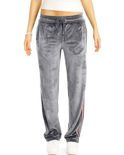 Lounge Hosen, Jogginghose Homewear Velour Sporthose - Damen - t113z