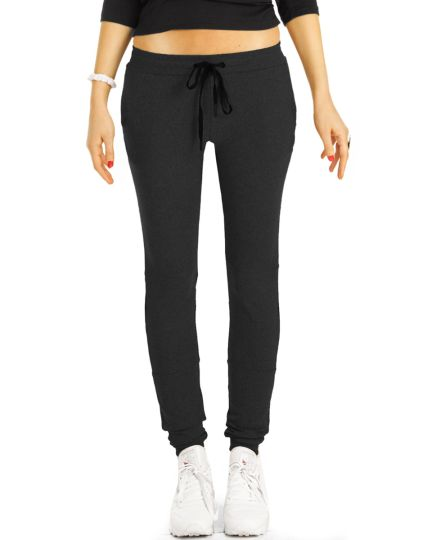 Jogginghose , Lounge Hosen, Homewear Sporthose mit transparenten mesh Einsätzen  - Damen - j4r-1