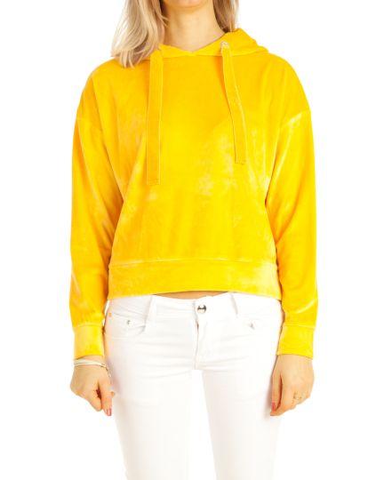 Kapuzenpullover, Pulli Hoodie Loungewearjacke mit Kapuze - Damen - t115z