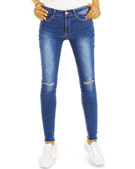 Röhrenjeans stretch slim fit Hosen - Super Skinny Jeans - Damen - j07L-Q