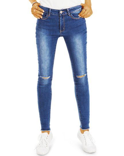 Röhrenjeans stretch slim fit Hosen - Super Skinny Jeans - Damen - j07L