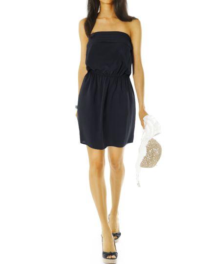 Damen Bandeaukleider - kurze trägerlose Sommer Kleider - k39p-Q
