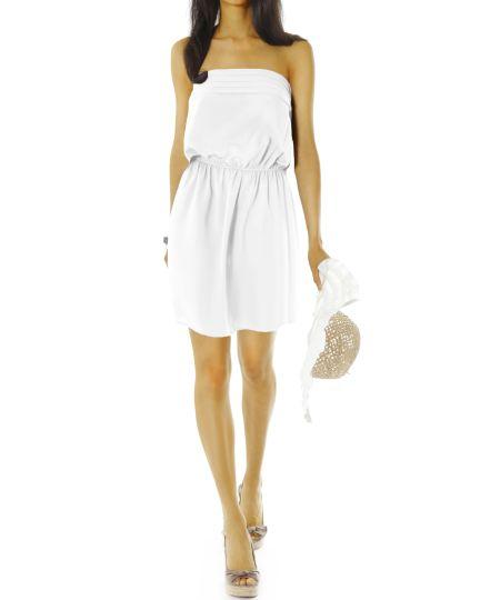 Damen Bandeaukleider - kurze trägerlose Sommer Kleider - k39p