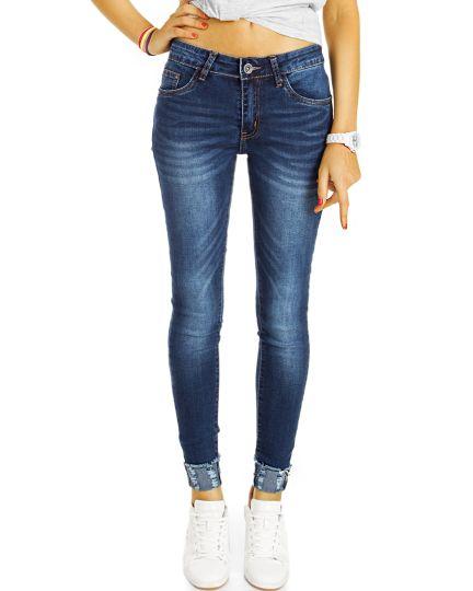 Röhrenjeans Enge Jeans Medium waist, Skinny fit - Damen - j37L-Q