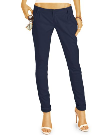 BE STYLED Chinos - Tapered Stoffhose, Hüfthose mit Stretch - Damen - chino_italia - h20a