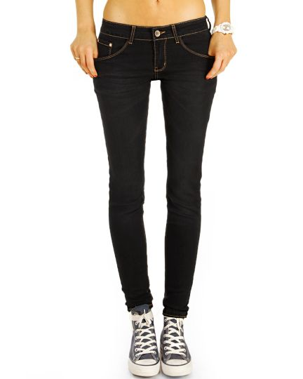 Low Waist Jeans Hose hüftige Röhrenjeans Skinny Strecht PushUp - Damen - j29g-2