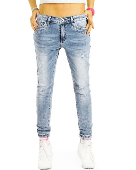Boyfriendjeans destroyed Hose im lockeren bequemen stretch Relaxed Fit - Damen - j20r-1