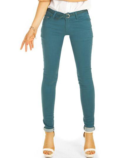 Low Waist Jeans Hüftjeans Röhrenjeans Skinny Hosen - Damen -  j18e