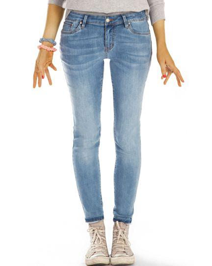 medium waist slim cut Jeans regular hellblaue Jeans stretch Hosen - Damen - j41L-1