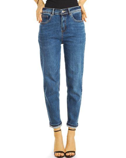 Mom Jeans Boyfriend High Waist Hose stretchig - klassisch, bequem -  Damen - j26k